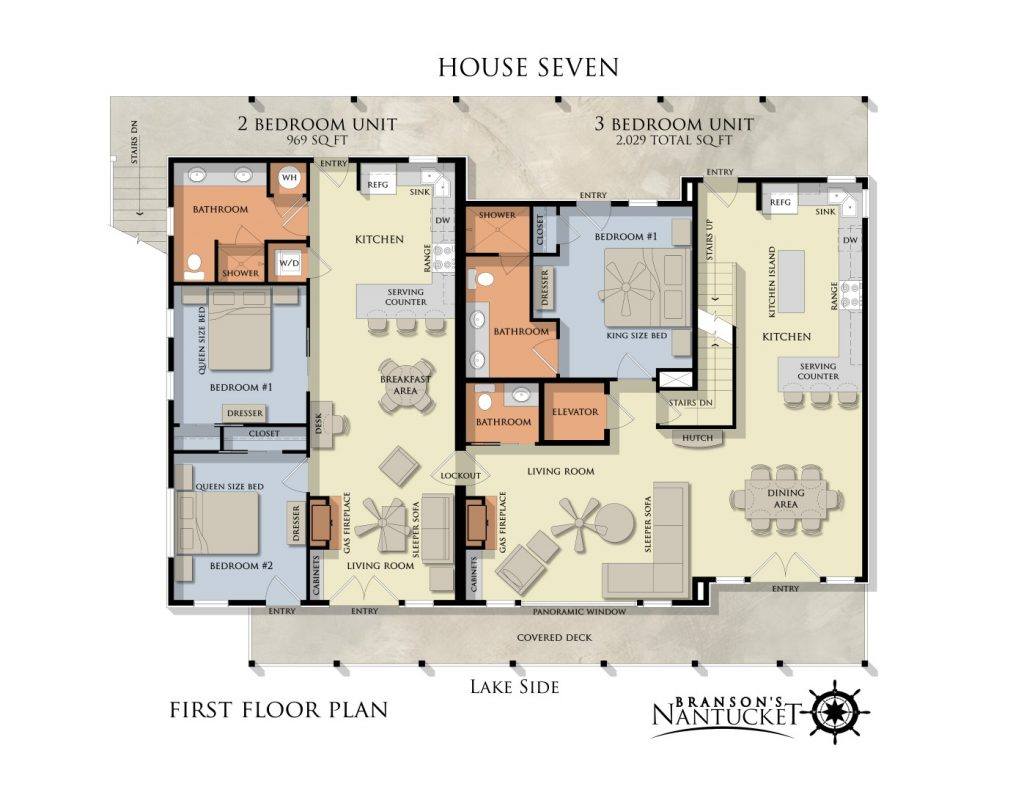 3 Bedroom   3 5 Bathroom Unit   2 029 sq ft 2 Bedroom   2 Bathroom Unit    969 sq ft 2 Bedroom   2 Bathroom Unit   1 123 sq ft. Unit Floor Plans   Branson s Nantucket