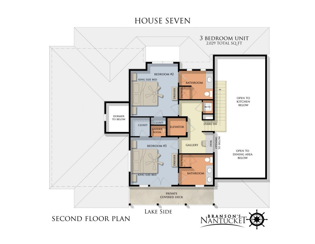 Unit floor plans branson 39 s nantucket for 3 bedroom unit floor plans